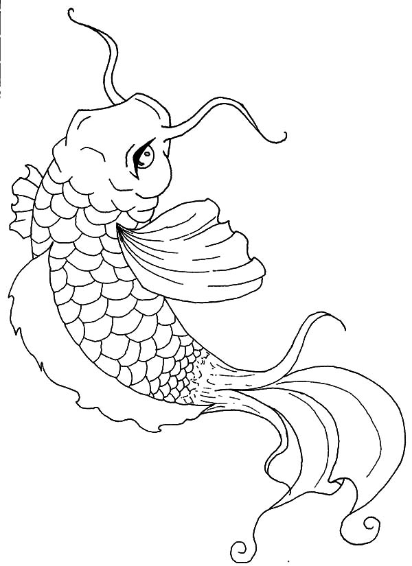 fishes kissing coloring pages - photo#19