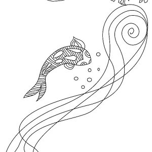 Koi Fish And Dragon Coloring Pages