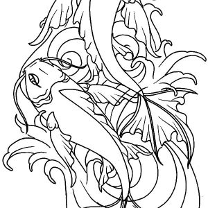Koi Fish From Heaven Coloring Pages