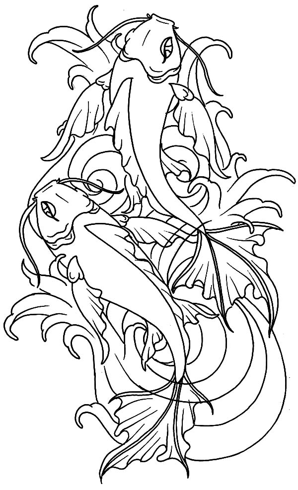 Koi Fish From Heaven Coloring Pages Download Print Online
