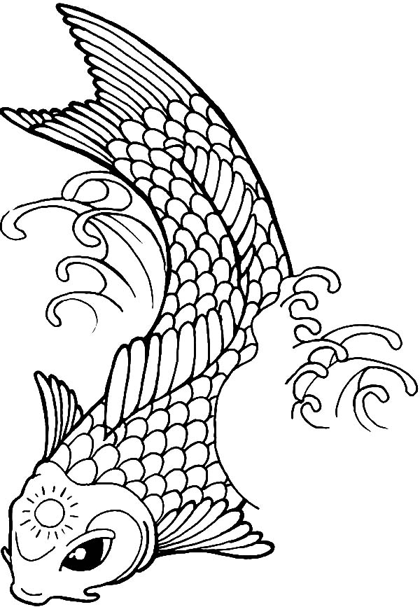 japanese fish coloring pages - photo#17