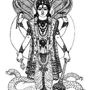 Krishna An Avatar For Lord Vishnu Coloring Pages