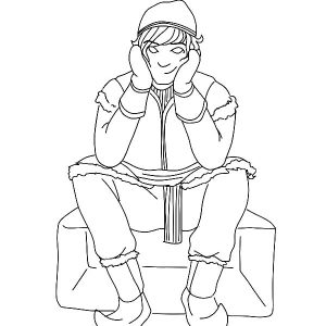 Kristoff Feeling A Little Cold Coloring Pages