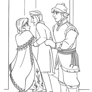 Kristoff Take Princess Anna To Arendelle Coloring Pages