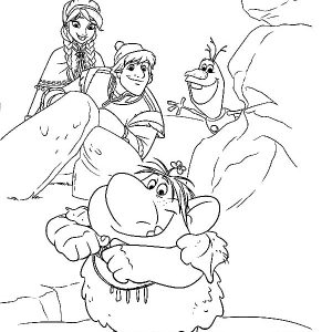 Kristoff And His Troll Family Coloring Pages