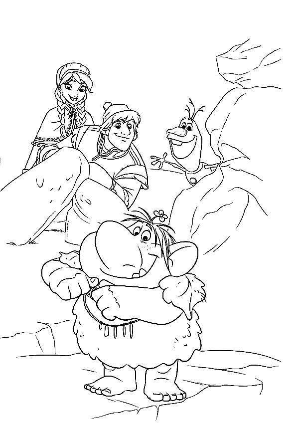 frozen coloring pages anna and kristoff family coloring