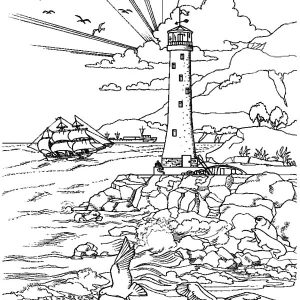 Let Your Good Deeds Glow With Lighthouse Coloring Pages