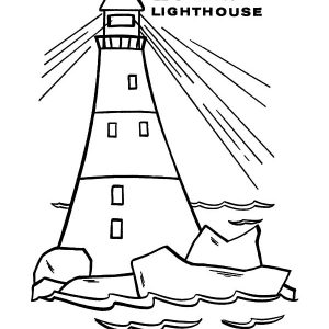 Letter L Is For Lighthouse Coloring Pages