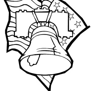 Liberty Bell Flag Day Coloring Pages