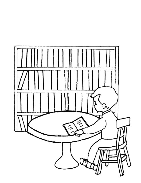 Library Be Quiet Please Coloring Pages - Download & Print ...