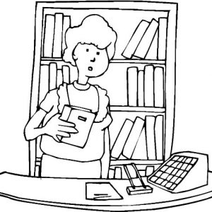 Library Front Desk Coloring Pages