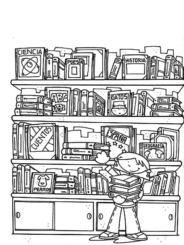 coloring pages librarian - photo#24