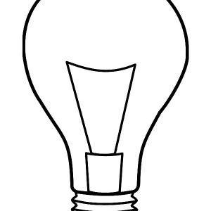 Light Bulb Coloring Pages For Kids