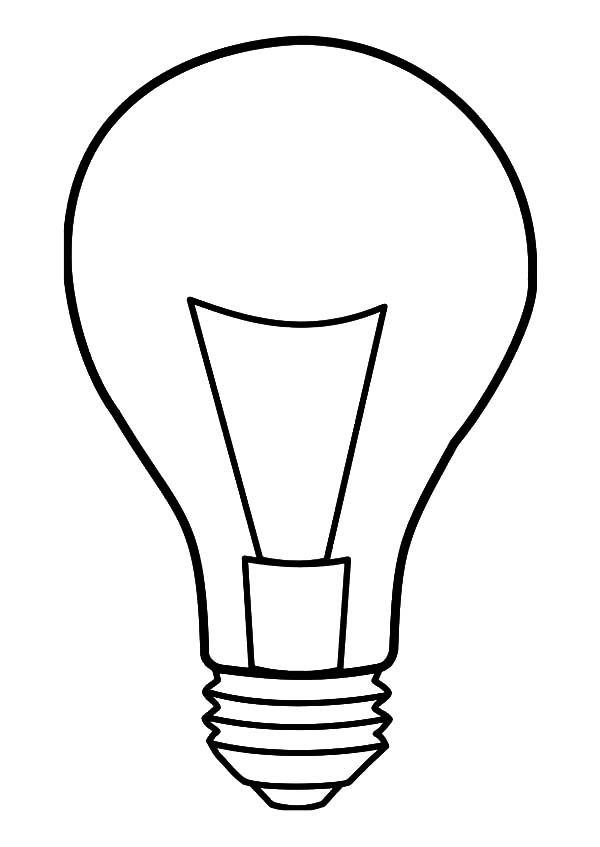 It's just a graphic of Simplicity Light Bulb Template Printable