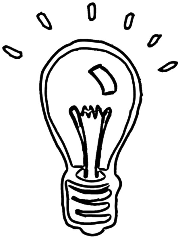 Christmas Ornament Light Bulb Coloring Pages - Download ...