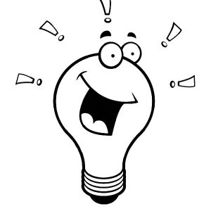 Light Bulb Laughing Coloring Pages