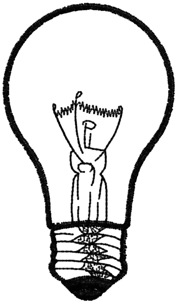 Light Bulb Picture Coloring Pages