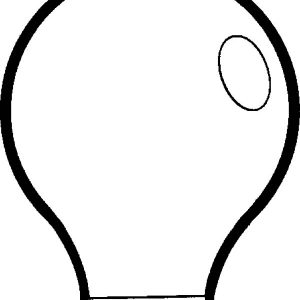 Light Bulb Shine Coloring Pages