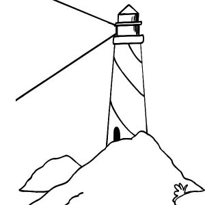 Lighthouse Bright Light Coloring Pages