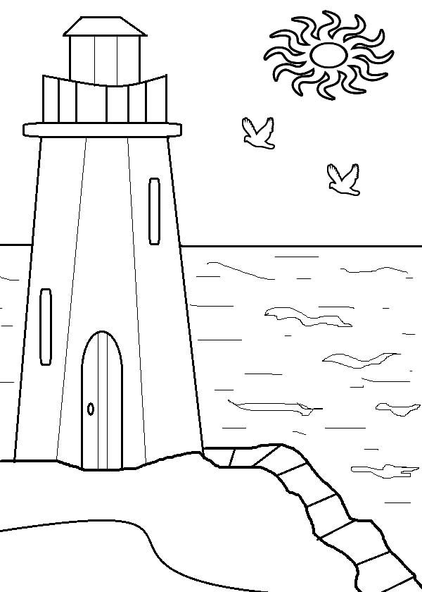 lighthouse closed at daylight coloring pages