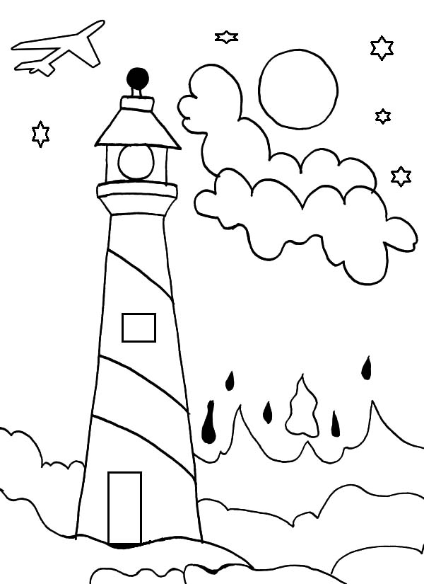 Lighthouse Coloring Pages - Download & Print Online Coloring Pages ...