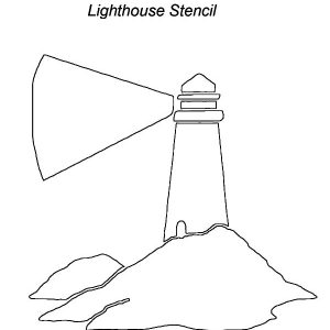 Lighthouse Stencil Coloring Pages