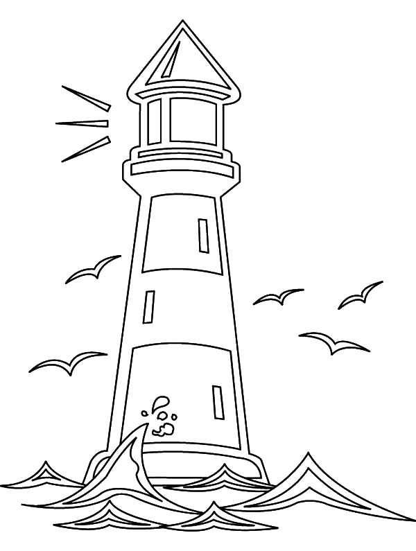 Lighthouse And Seagulls Coloring Pages Download Amp Print