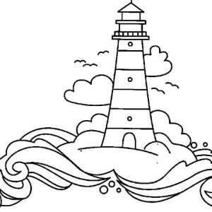 Lighthouse In The Land Of Dreams Coloring Pages