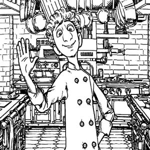 Linguini Welcome To My Kitchen Coloring Pages