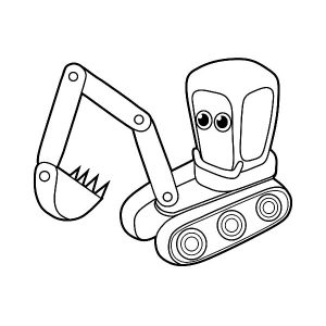 Little Excavator Coloring Pages