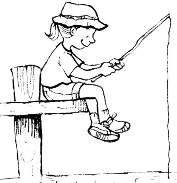 free fishing pole coloring pages - photo#31