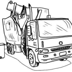 Loading Garbage Truck Coloring Pages
