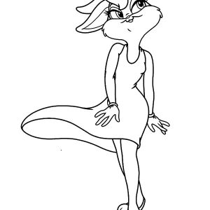 Lola Bunny Is Charming With New Dress Coloring Pages