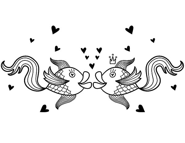 Kissing Gourame Fish Coloring Pages Download Print Online
