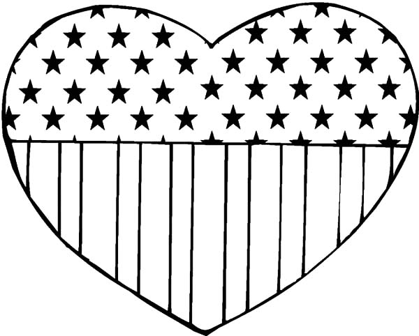 flag day coloring pages Loving Heart Flag Day Coloring Pages   Download & Print Online  flag day coloring pages