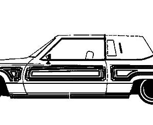 Lowrider Cars Coloring Pages