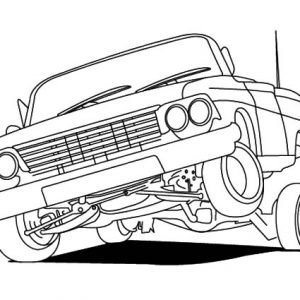 Lowrider Cars Hydraulics Coloring Pages