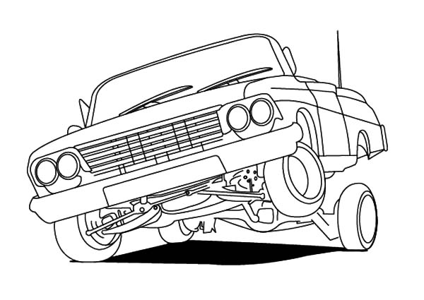 Lowrider Cars Hydraulics Coloring Pages Download Print Online