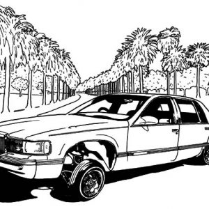 Lowrider Cars Show Coloring Pages