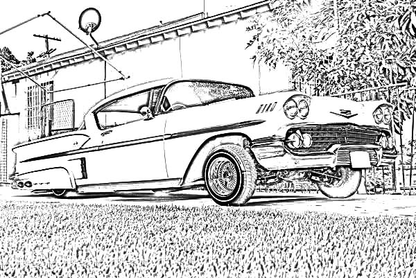 Lowrider Cars On The Road Coloring Pages Download Print Online