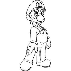 Luigi Doing Tango Dance Coloring Pages