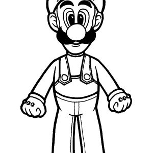 Luigi Get Ready Coloring Pages