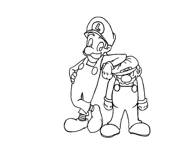 Luigi Teasing Mario Coloring Pages - Download & Print ...
