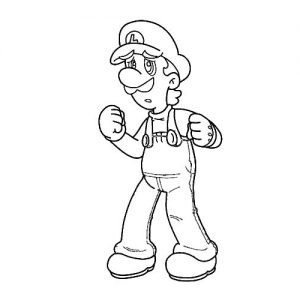 Luigi Is Worried Coloring Pages