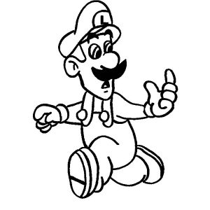 Luigi Is In A Hurry Coloring Pages