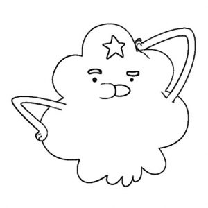 Lumpy Space Princess Confuse Coloring Pages