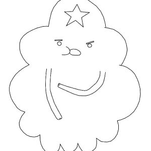 Lumpy Space Princess Outline Coloring Pages