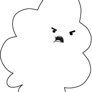 Lumpy Space Princess Is Angry Coloring Pages
