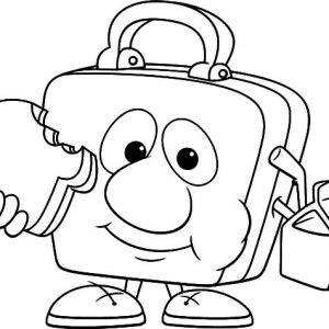Lunchbox Eating Lunch Coloring Pages