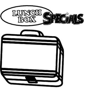 Lunchbox Special Colouring Pages Coloring Page